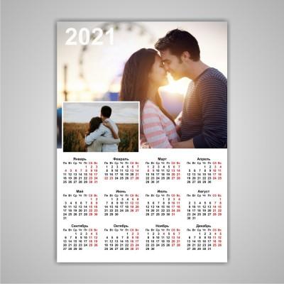 Настенный календарь с двумя фото
